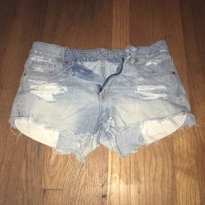 American Eagle ripped denim cut off shorts size 8